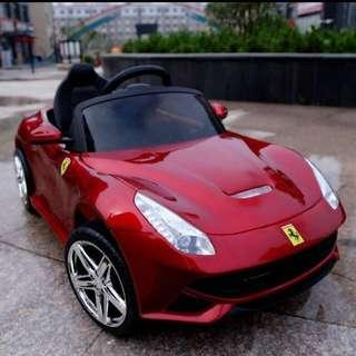 Kids Ferrari Electric Car with Bluetooth Remote