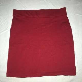 Forever 21 Red Bodycon Skirt #subangjayaswap