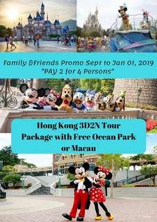 Hong kong pay 2 for 4 pax