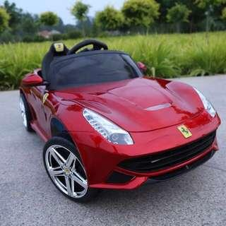 Kids Electric Toy Ferrari Car (Real Glossy Paint)
