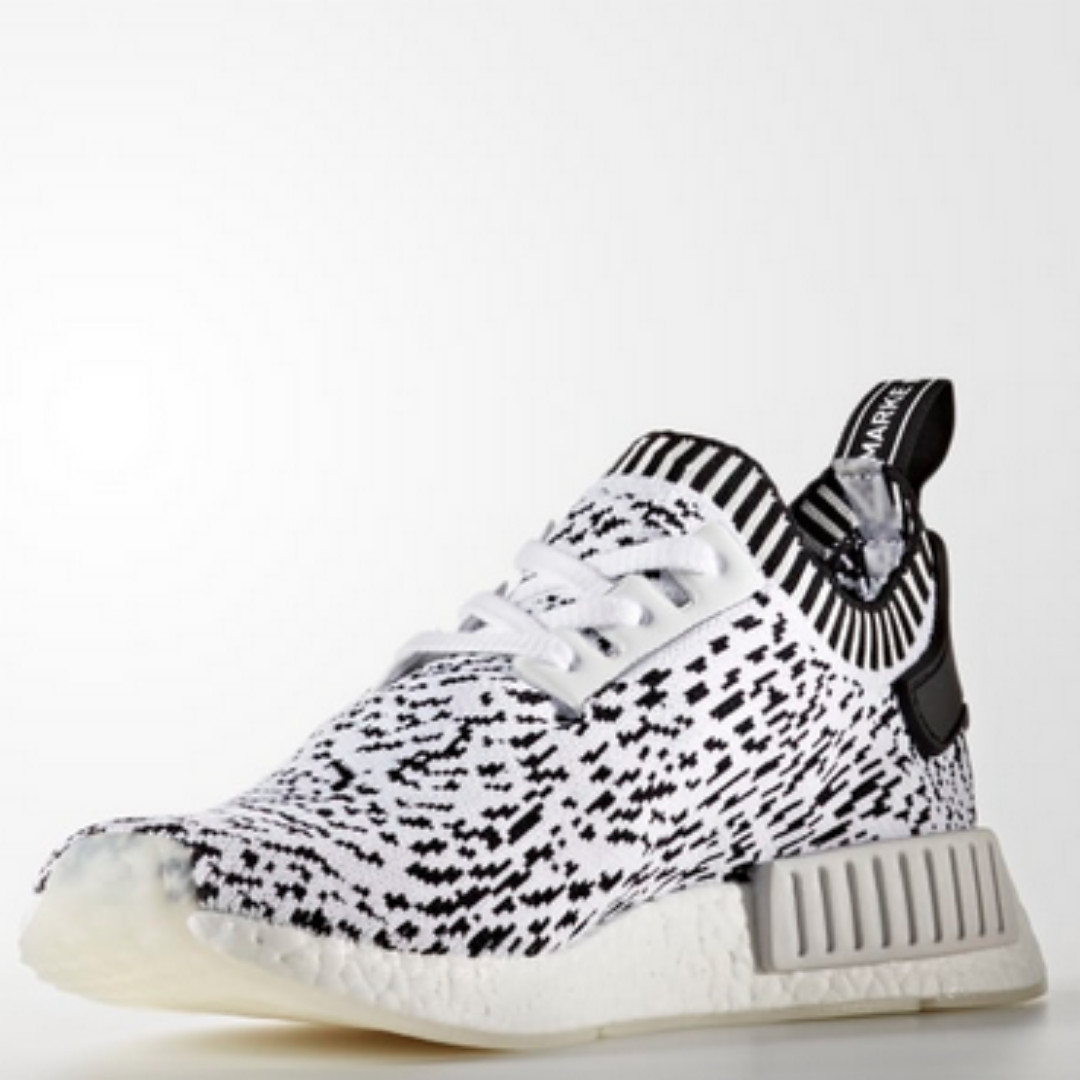 newest c303e 75e15 adidas NMD R1 Primeknit - white, Mens Fashion, Footwear, Sne