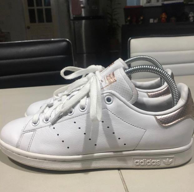 Adidas Stan Smith Rose Gold size 7 7.5 on Carousell