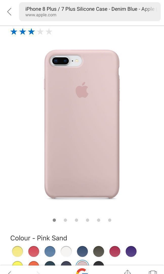 best service 9bf77 be84e Apple iPhone 7 Plus /8 plus Silicon Case Pink Sand
