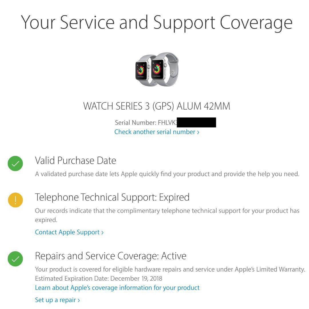 Apple Watch Series 3 (GPS) 42mm - Silver Aluminum Sports Band