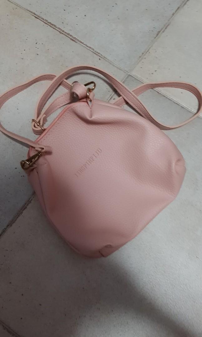 eafad12e58d7e1 BN pink zipped sling bag, Women's Fashion, Bags & Wallets, Handbags ...