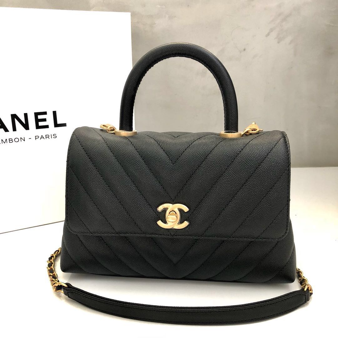 f61c1e0fdf59 Brand New* Chanel Mini Coco Handle Bag, Women's Fashion, Bags ...