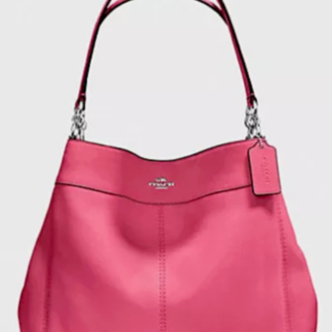 7fb126a5a06f8 Brand New Coach Pebble Leather Lexy Pink Shoulder Bag F28997 MSRP US ...