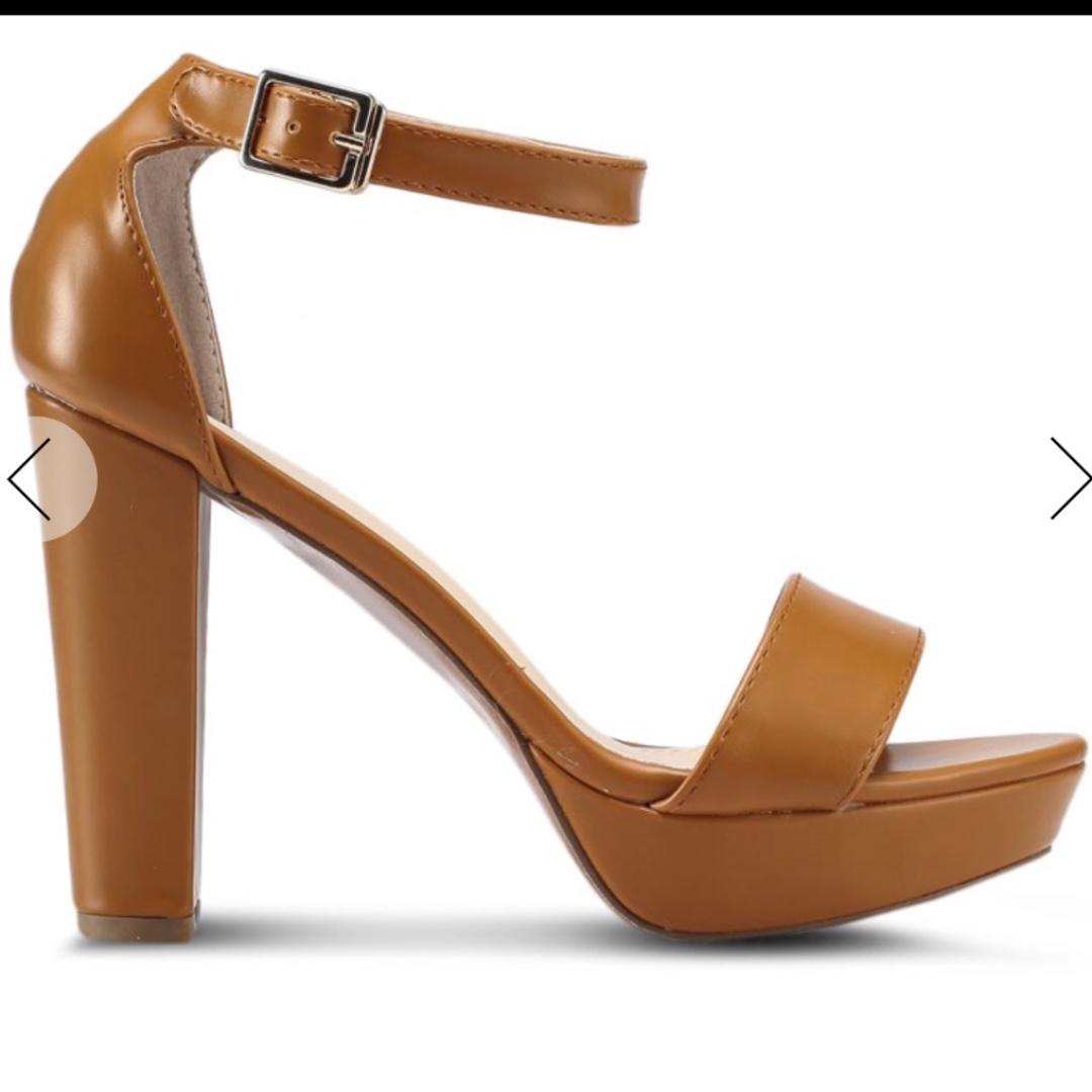 9d0d665781e Zalora Block Brown heels