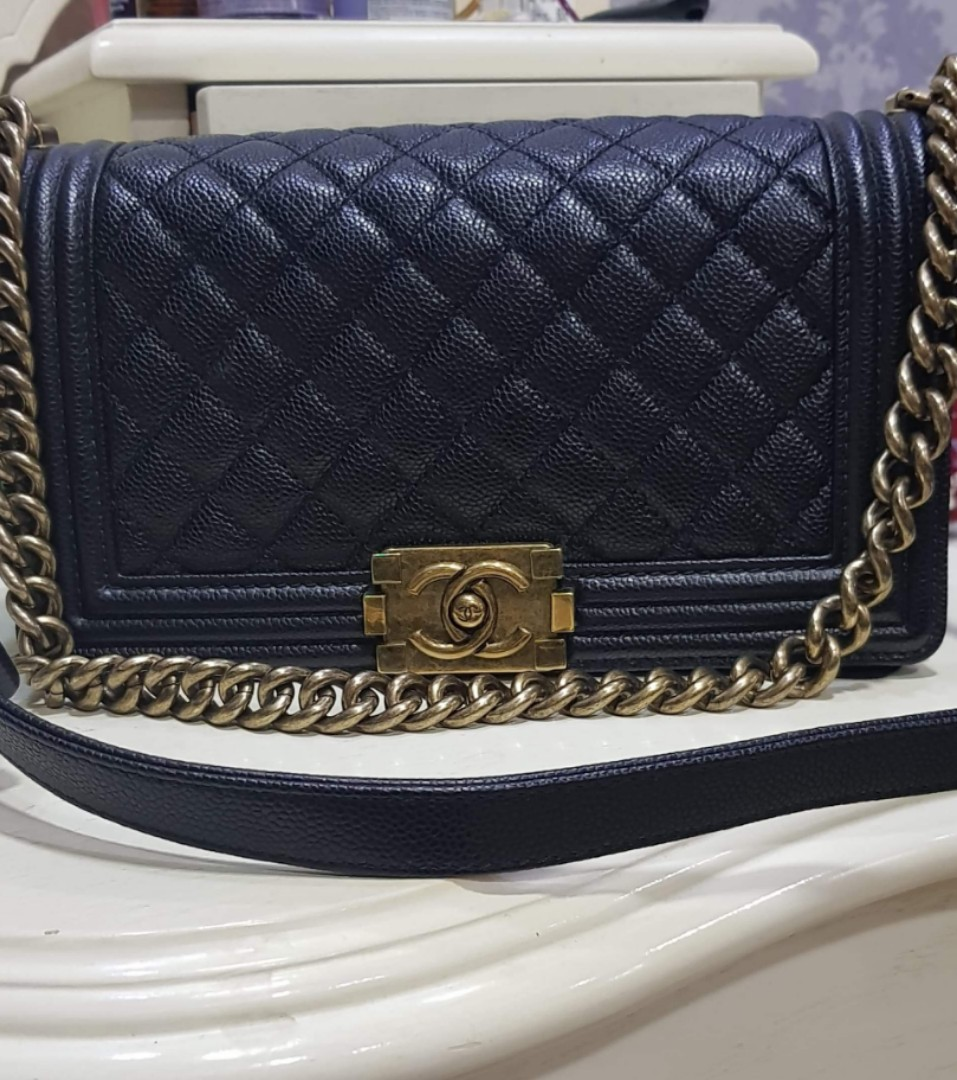 be687400a31e5c Chanel Boy Caviar Old Medium Pre-order, Luxury, Bags & Wallets ...