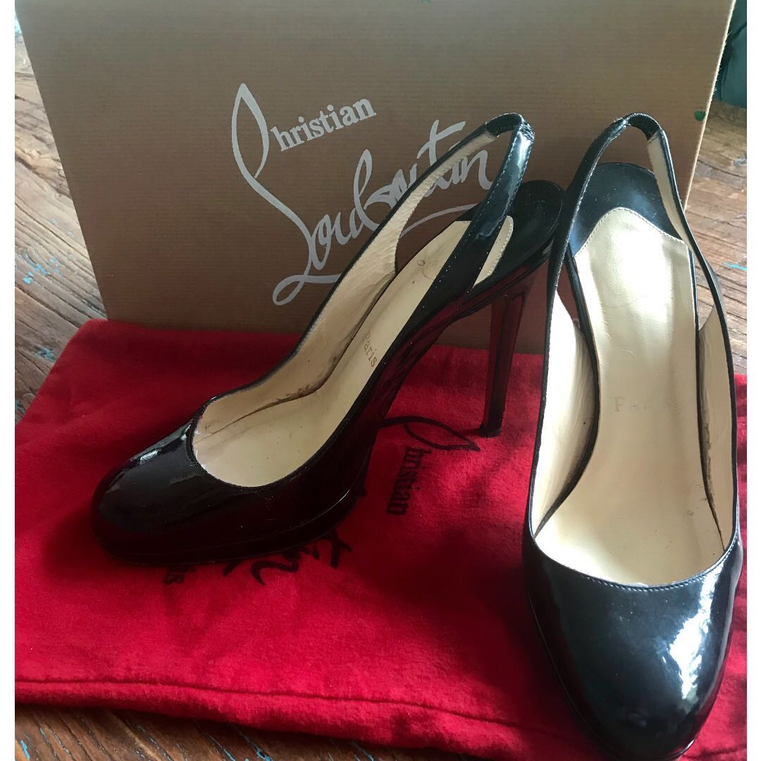 06c00632ff8 Christian Louboutin - Horatio Sling 120 Patent Calf