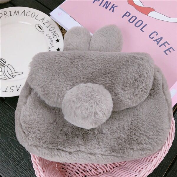 063c688c3436  Clearance Sale  BN Cute Fluffy Bunny Tail Sling Bag
