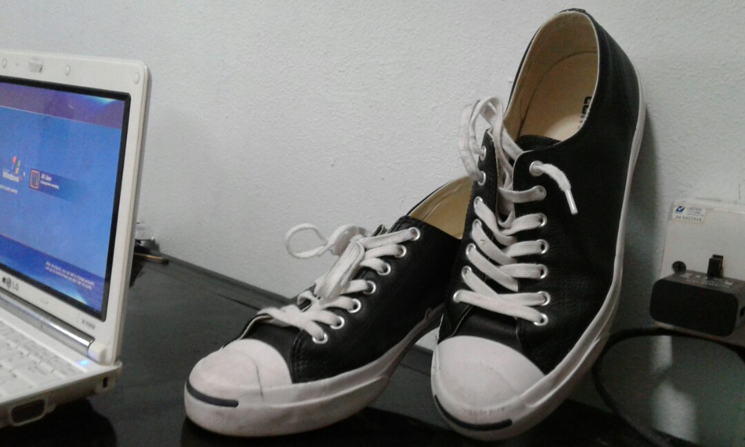 85f0a16434a5 Converse Jack Purcell (leather black)