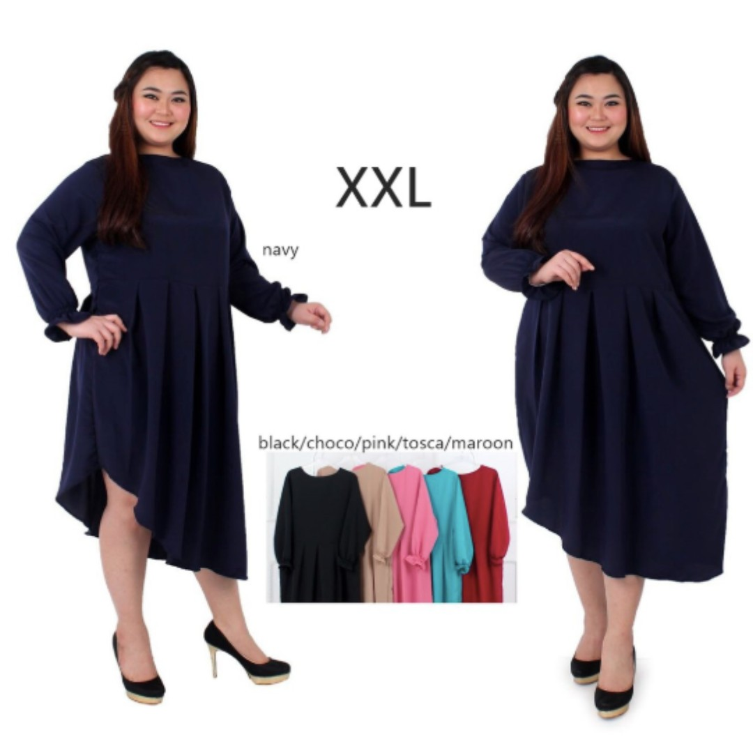 Dress Jumbo Xxl Xxxl Dress Bigsize Dress Pesta Jumbo Dress Kasual