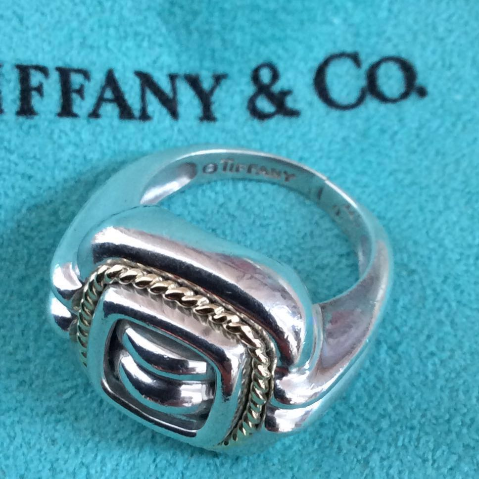 5f97a5334586 ⚡️Fast Sale⚡️Tiffany   Co Ring Silver   Gold