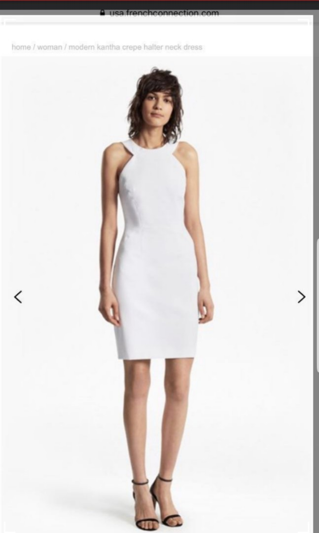 596fda761d3 French Connection $259 white crepe dress, Women's Fashion, Clothes ...