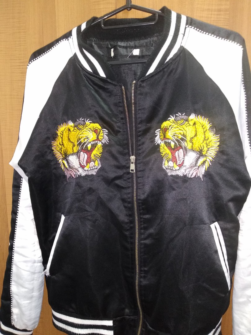 c1ba7d511 Gucci Tiger Jacket, Men's Fashion, Clothes, Outerwear on Carousell