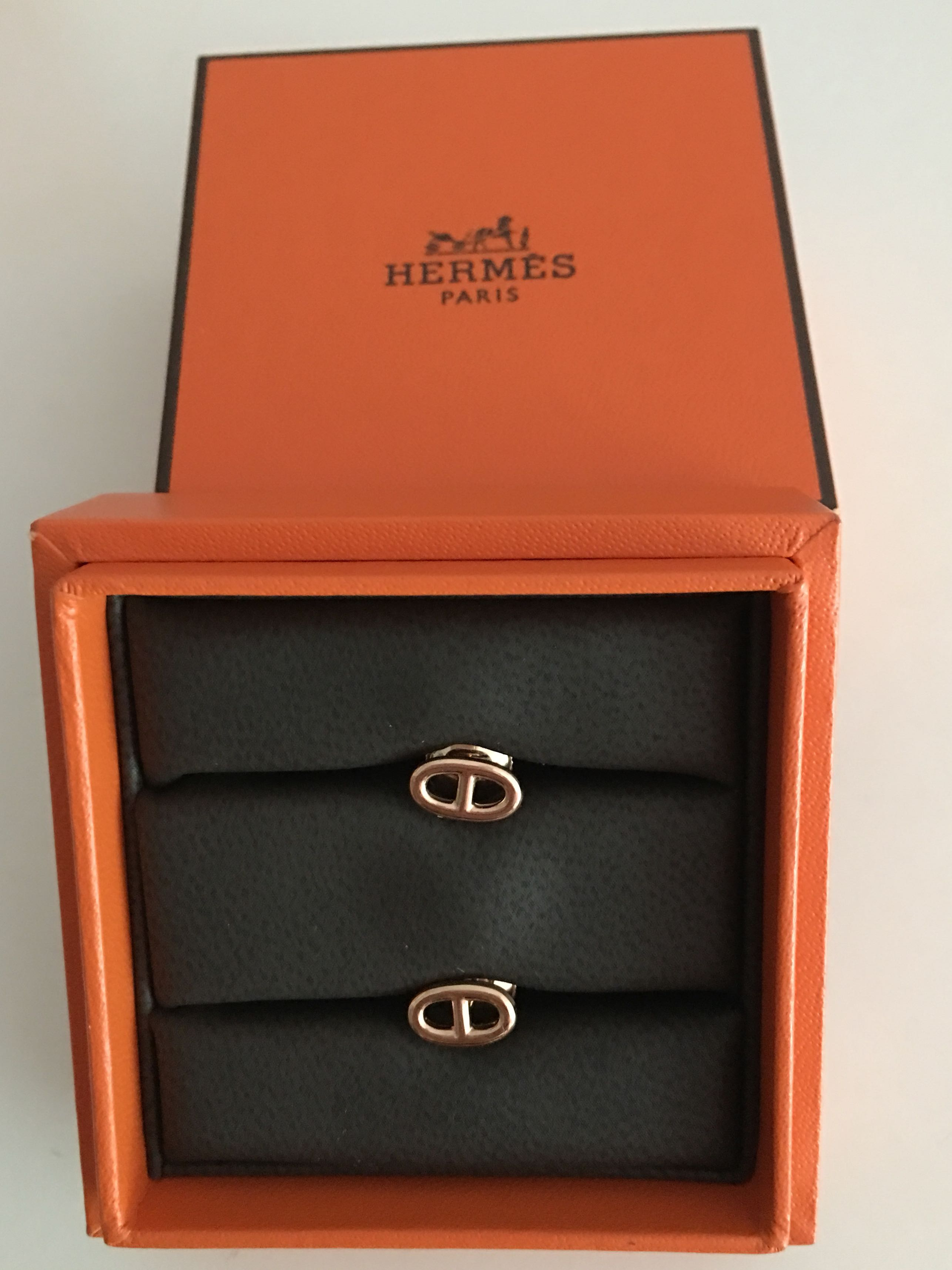 b14909d87 ... sweden hermes chaîne dancre earrings rose gold luxury accessories  others on carousell d9a92 6b53d