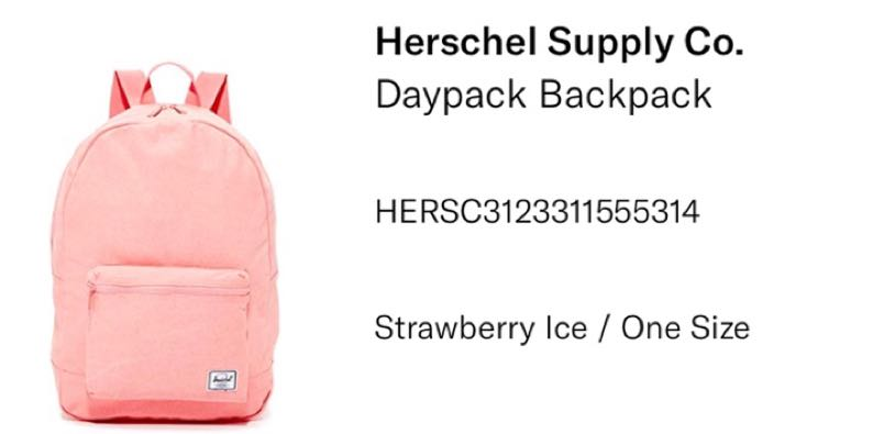 dc0d6dc8a2 Herschel Daypack Backpack, Women's Fashion, Bags & Wallets, Backpacks on  Carousell