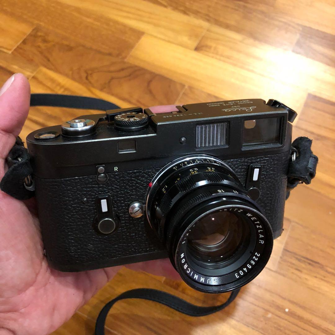 Leica M4 Black (#4459) With Summicron 50mm f2 Black (#9403