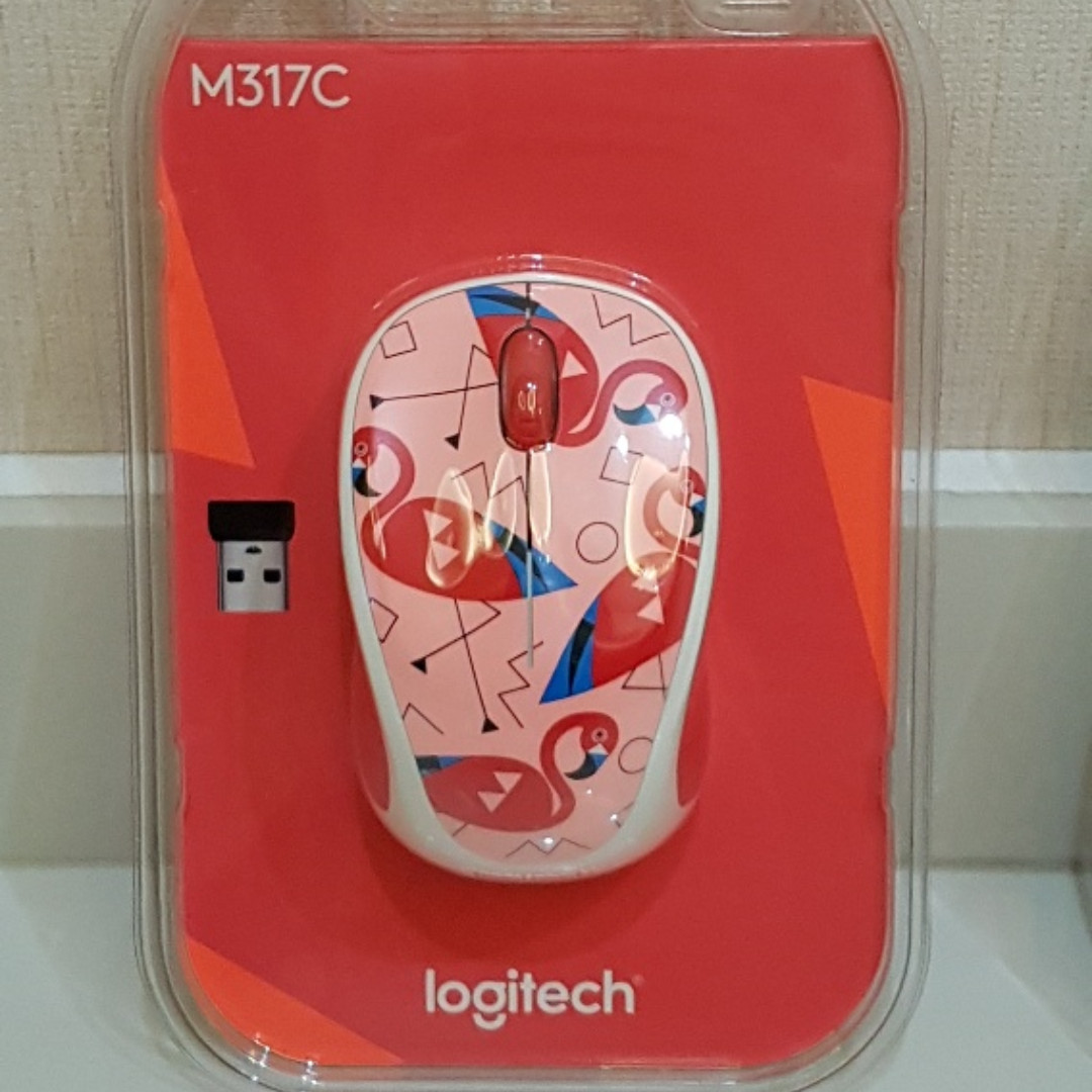 dc16b3a5377 Logitech M317c (M317) optical wireless mouse - Flamingo, Electronics,  Computer Parts & Accessories on Carousell