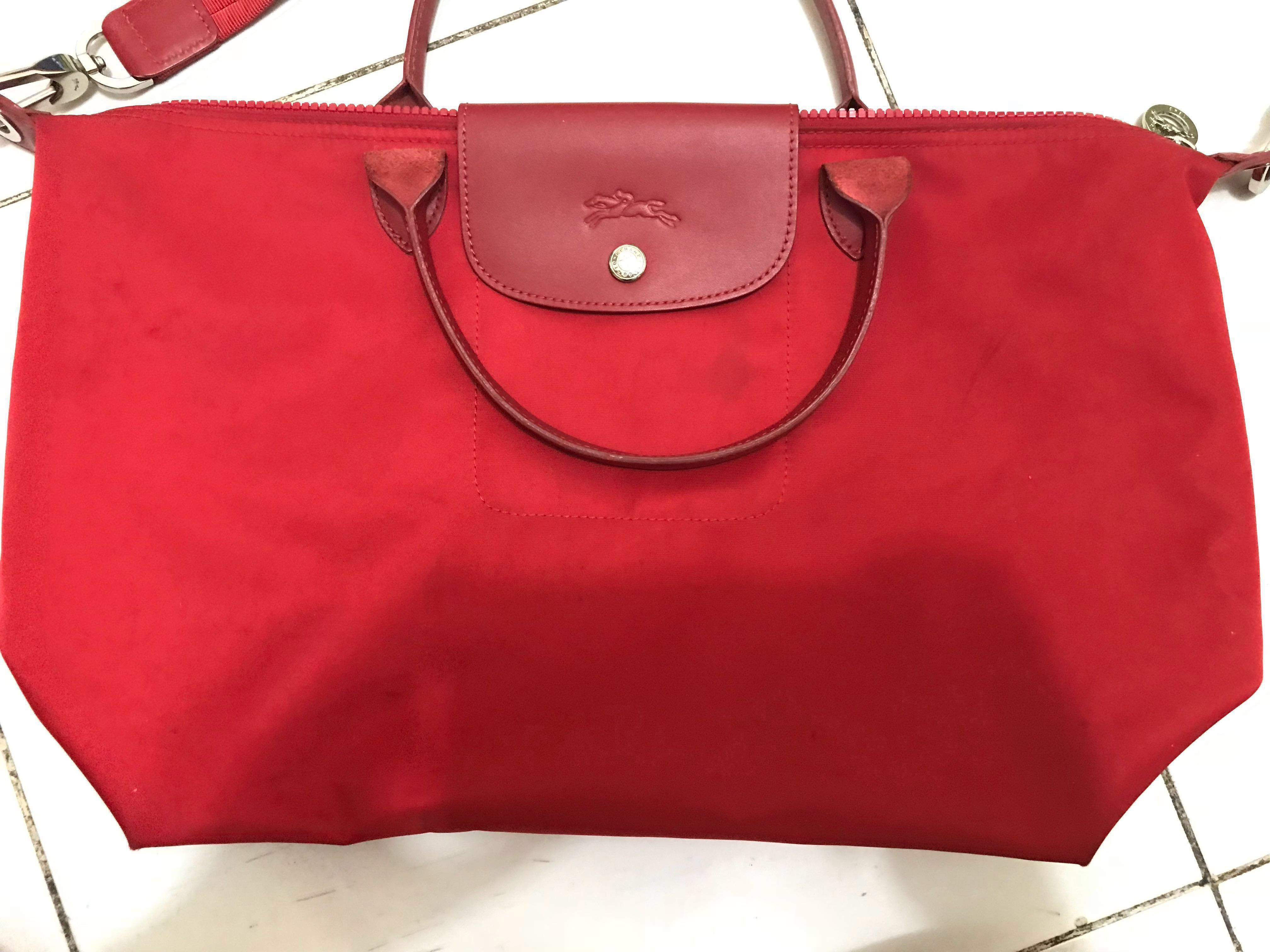 Longchamp Original Le Pliage Neo in Red size Large 5991434abf