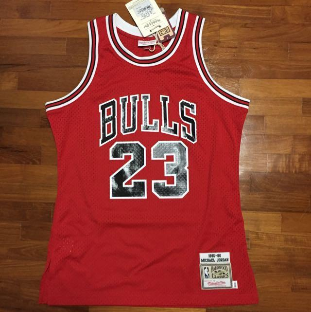 huge selection of 12dda 306c9 Michael Jordan Authentic #23 Jersey Mitchell & Ness 1985 ...