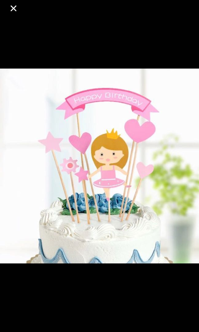 New Ballerina Ballet Happy Birthday Cake Topper Party