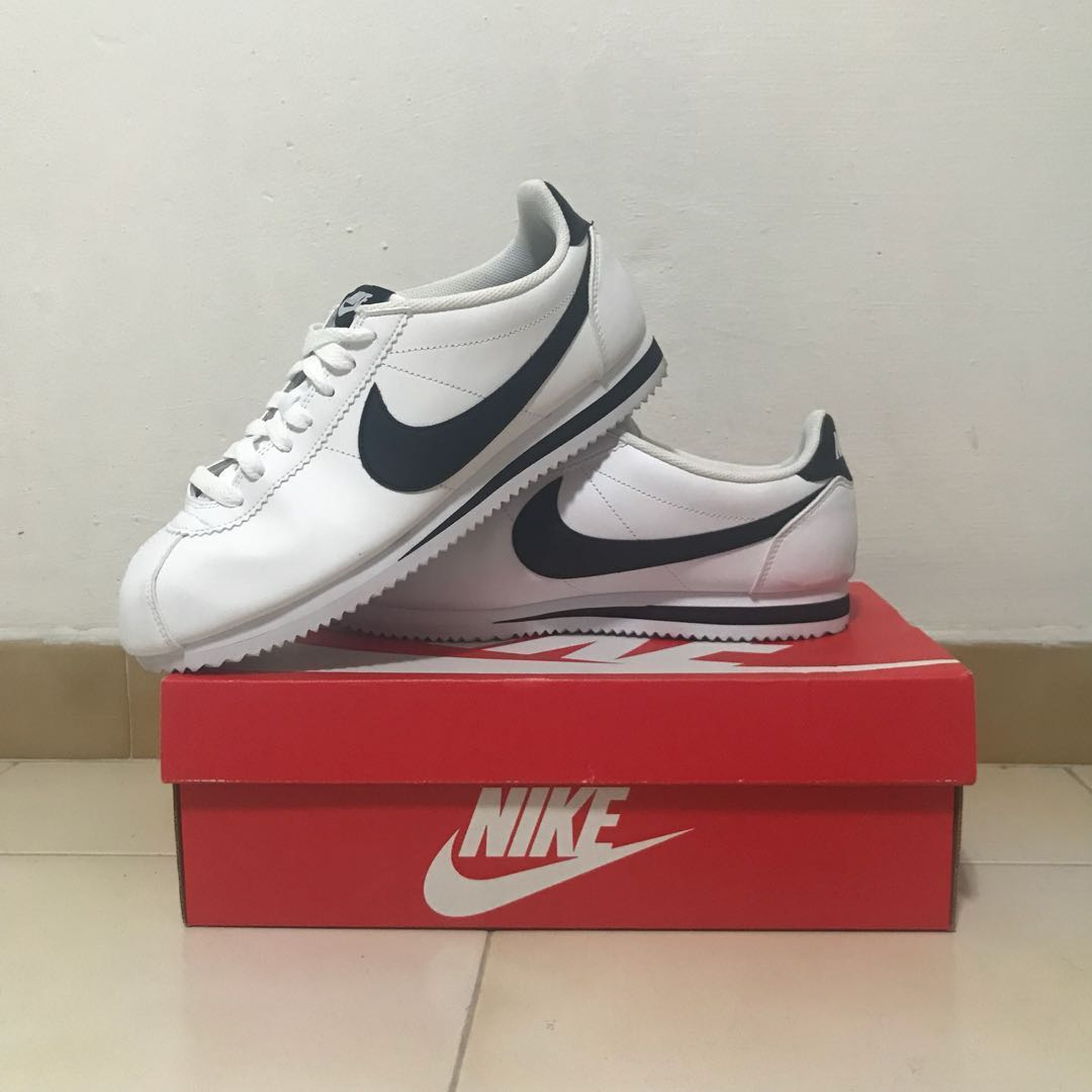 watch bd390 2c693 Nike Cortez Leather Trainers In White, Men's Fashion ...