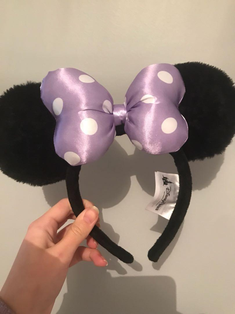 Official Disney Minnie Mouse Ears Headband - Purple