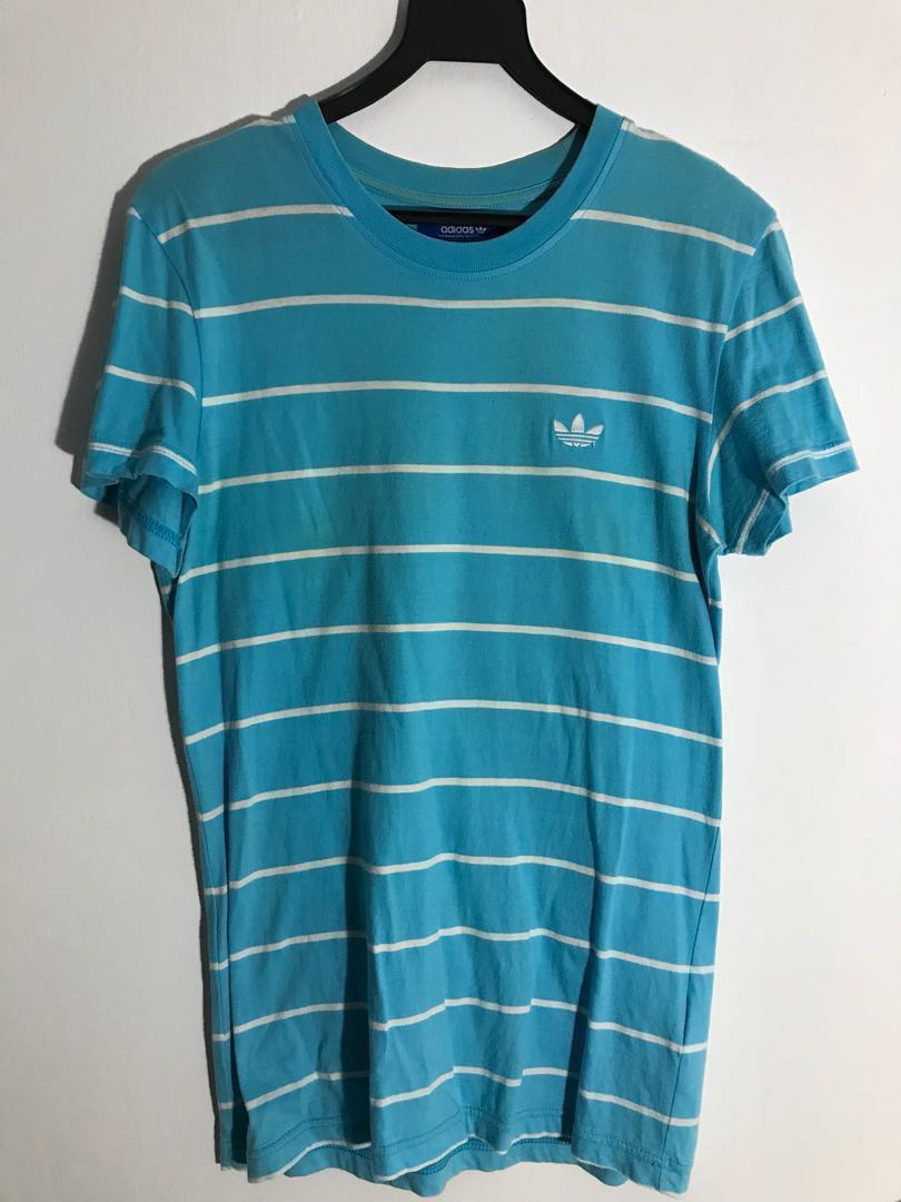 cyan Fashion Tee Original Baby Blue Shirt Adidas Clothes Women's AqF4wt
