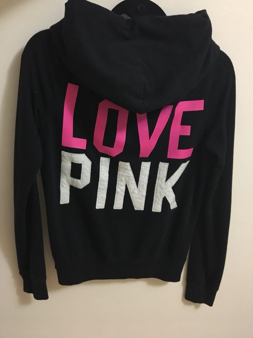 Pink Full-zip Sweater