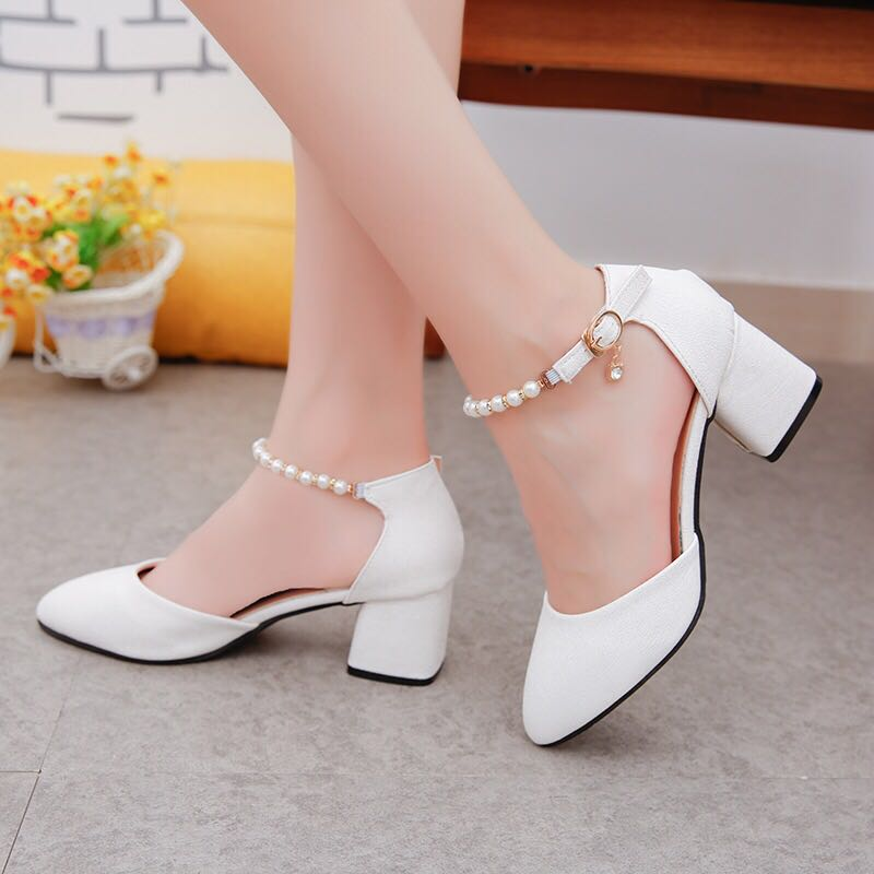 6c41c55302 PO] 🇰🇷 Korean Heels Pumps Sandals for Presentation/Event (Wedding ...