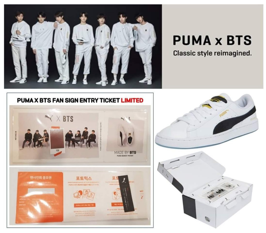 7a1dcf38849 Puma X BTS - Basket Patent on Carousell