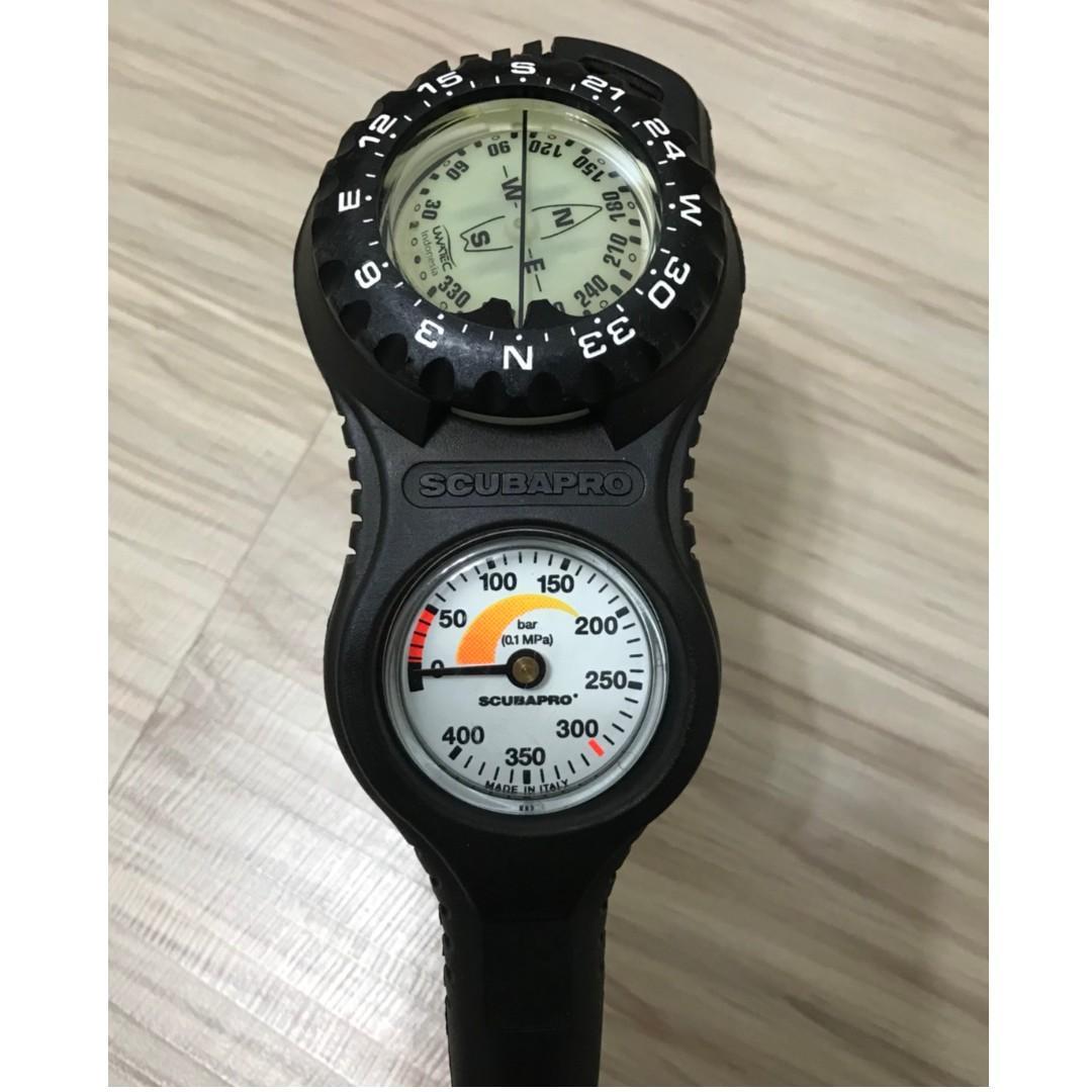 SCUBAPRO 潛水 調節器 二用錶 (殘壓指北) 近全新 無議價