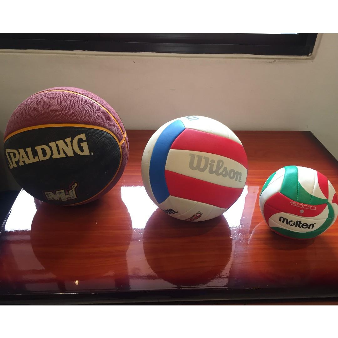 Spalding Basketball Wilson And Molten Volleyballs Sports Sports Games Equipment On Carousell