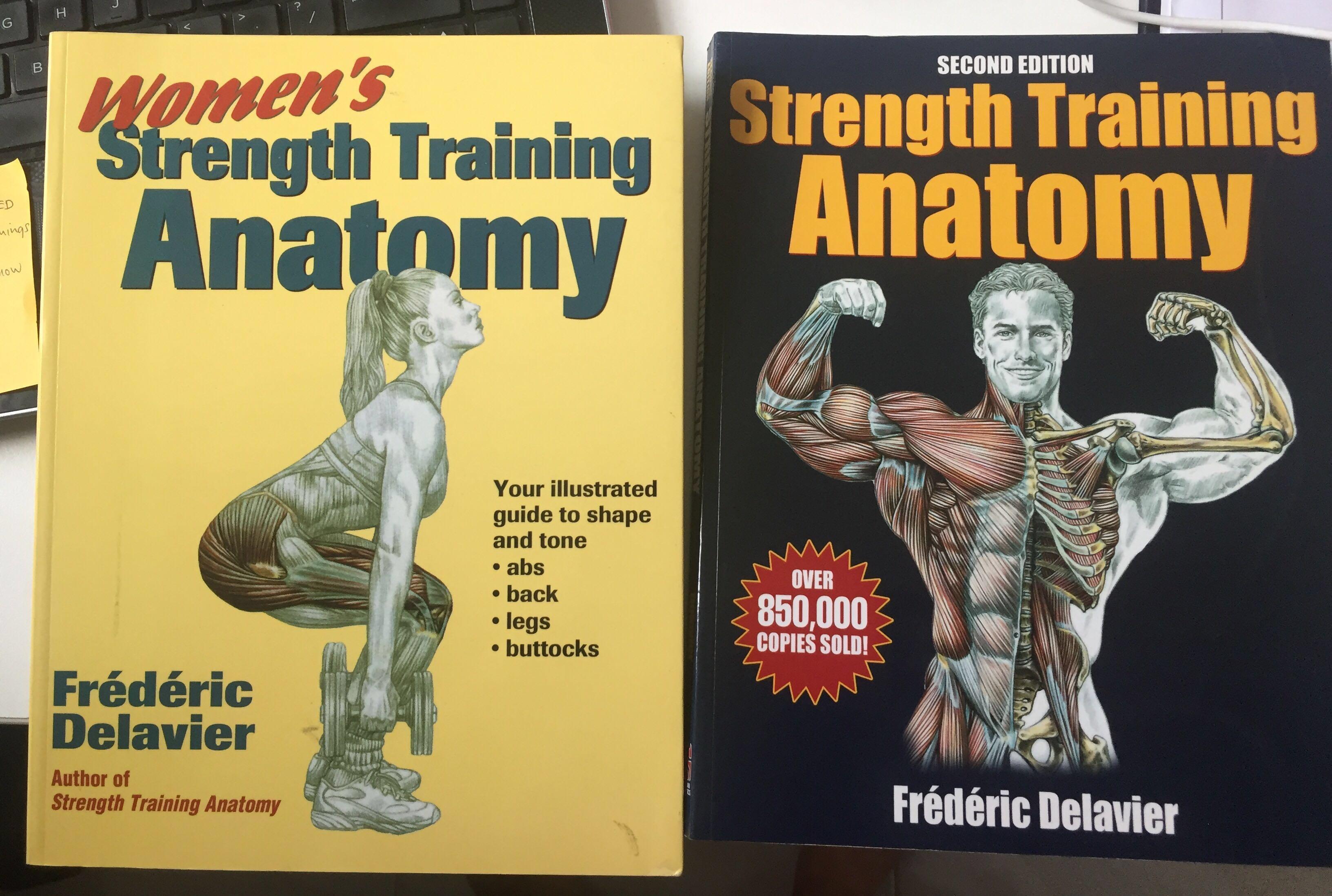 Strength Training Anatomy Frederic Delavier Books Stationery