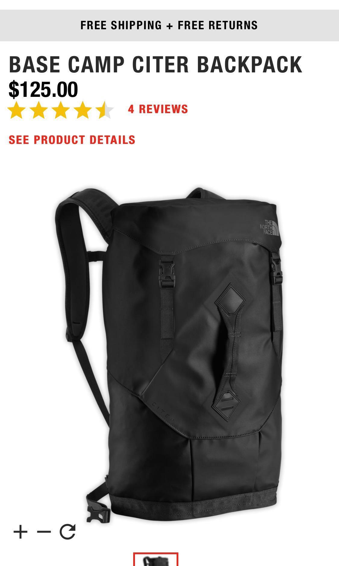 775702603e The North Face Haversack Bag - Citer Black