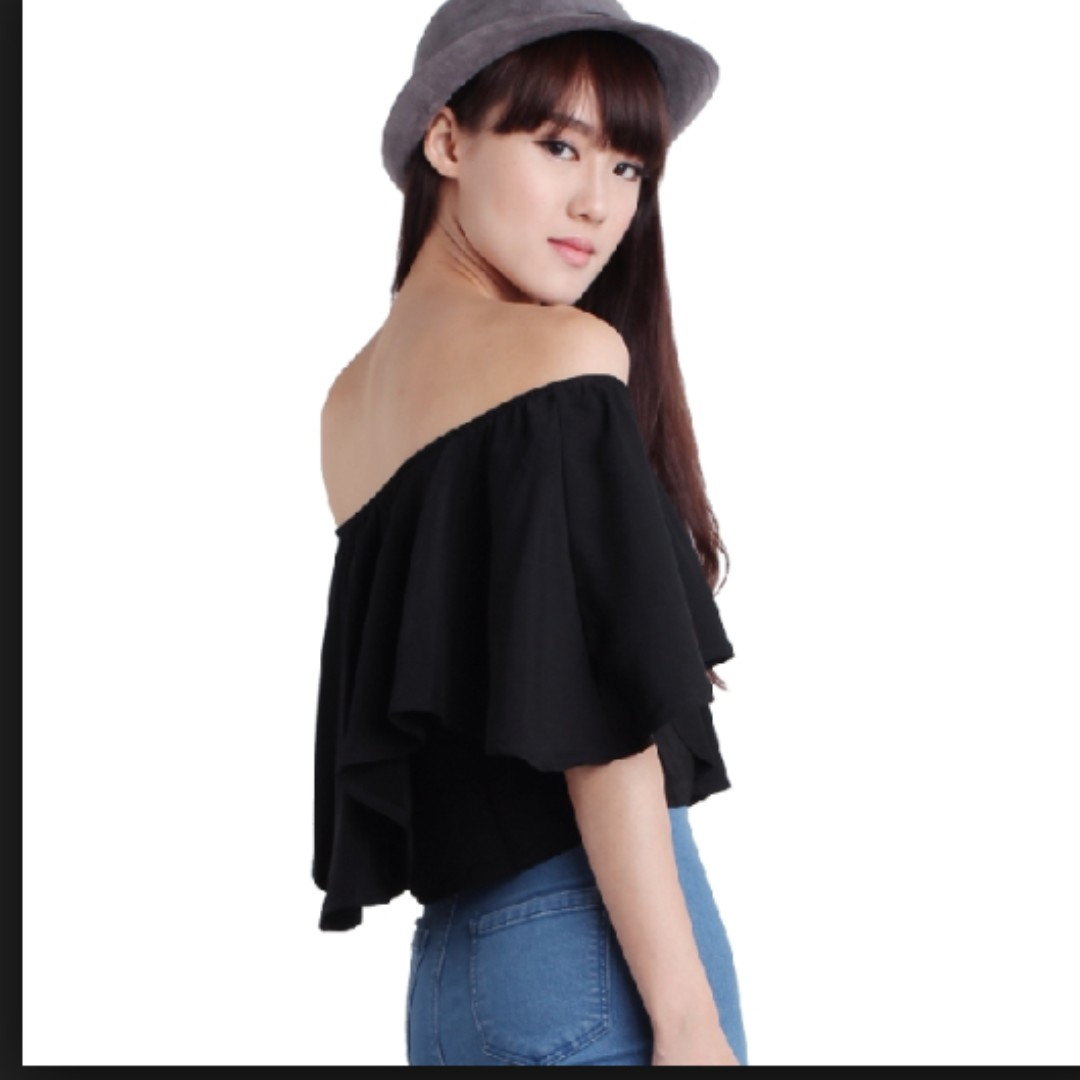 a1821ec28f4905 TTR Tyra Off Shoulder Top (Black), Women's Fashion, Clothes, Tops on ...