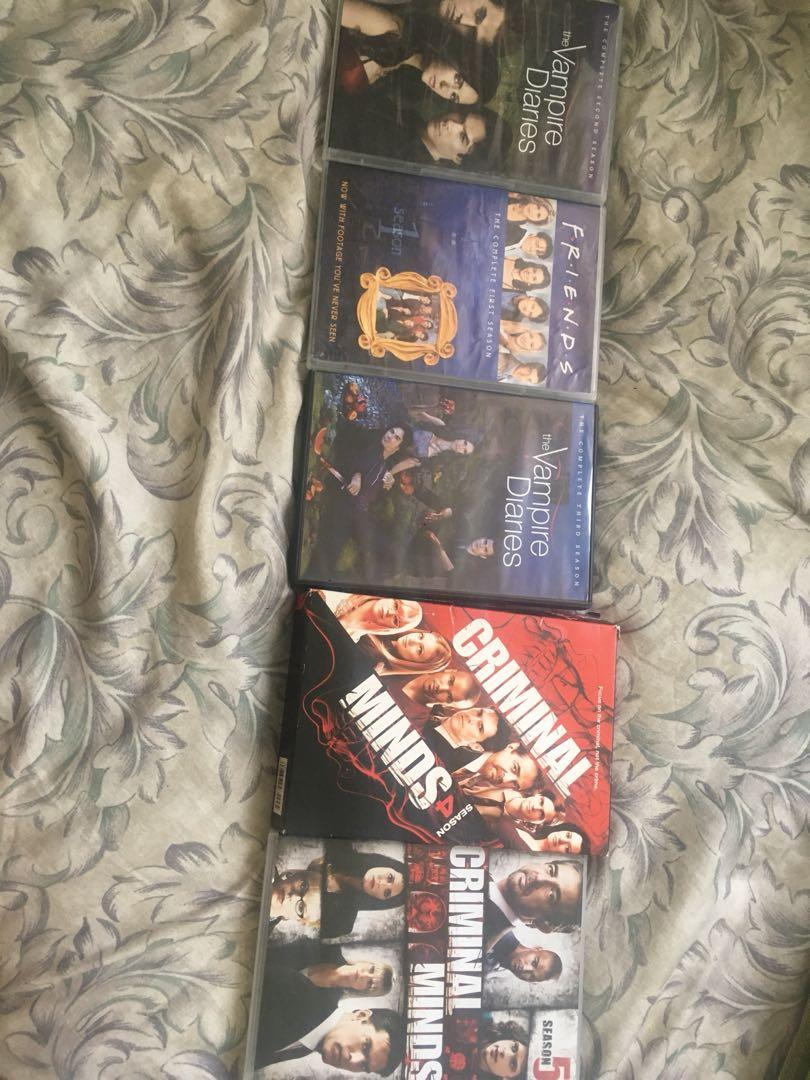 Vampire diaries S2 & S3, Friends S1, Criminal Minds S4 & S5