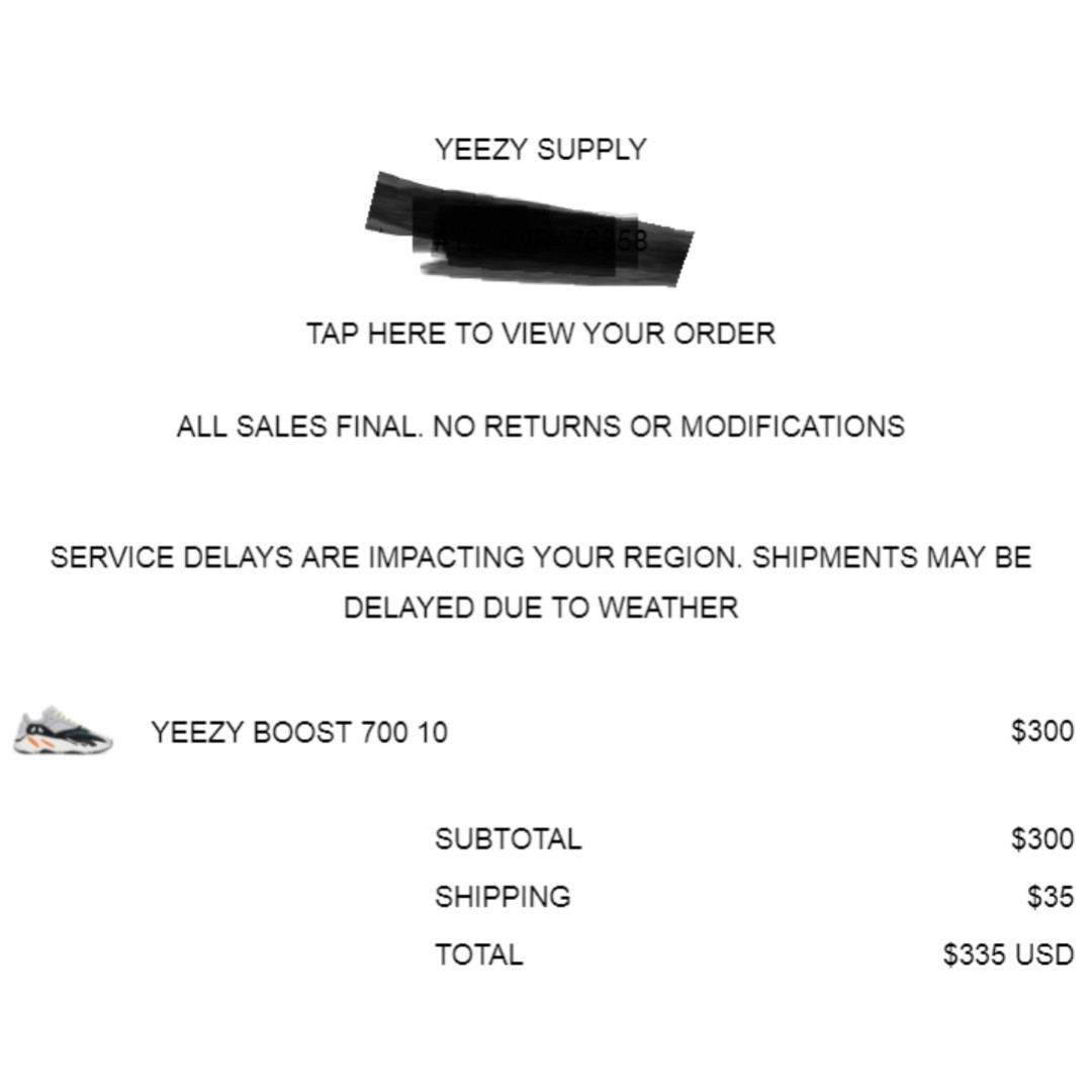 premium selection f424b 24fcc Yeezy 700 Wave runner UK9.5 (from yeezy supply in transit)