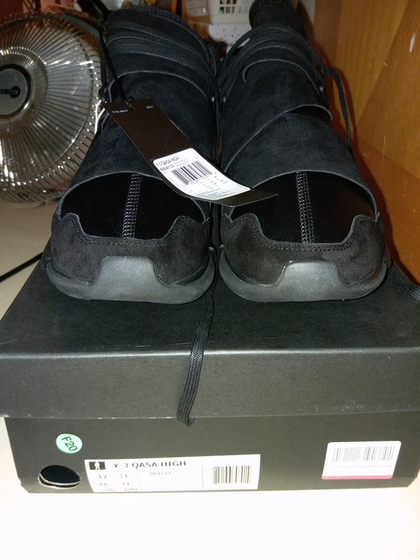 5ee0f9bb5 Yohji Yamamoto Adidas Y-3 Qasa High US12 100%New   Real