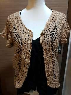 Crochet cardigan sweater cover up