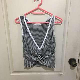 🚚 (全新正韓)條紋扭結背心#九月女裝半價