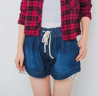 Plus Size Soft Denim Short