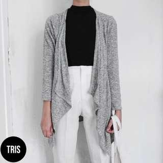 GREY KNITTED CARDIGAN OUTER