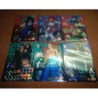 YuYu Hakusho amada pp card 6 prism set