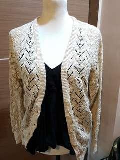M-L Crochet Knit Cardigan