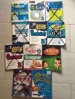 English Chinese Math P3 primary 3 Assessment Books