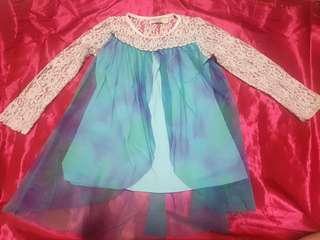 Princess Elsa Dress 3-5yo