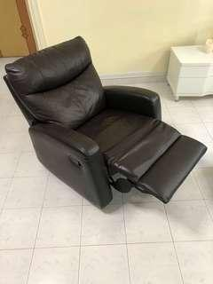 (Moving House Sales) Used Charcoal Brown Reclining Armchair
